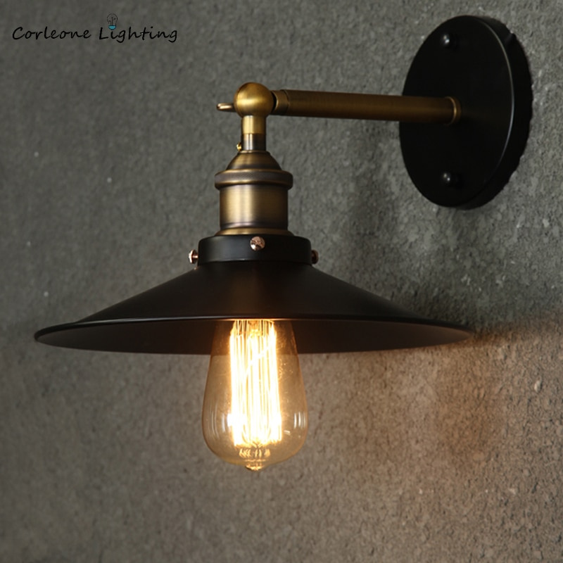 Retro Wall Lamp Vintage Industrial Wall Lamps Iron Loft Sconce Wall Lights Bedroom Lamp E27 Bar Cafe Home Decor Light Fixtures wood iron wall lamps vintage sconce wall light fixture e27 220v bedside retro lamp industrial decor dining room bedroom light