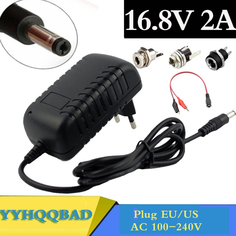 16.8V 2A li-ion Battery Charger for 14.4V 18650 Lithium Battery 5.5mm x 2.1mm DC Power Jack Socket F