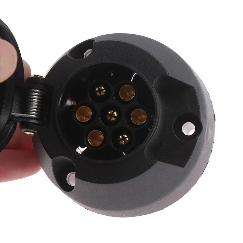 12V barra de remolque redondo estándar europeo toma de remolque negro materiales esmerilados toma de remolque