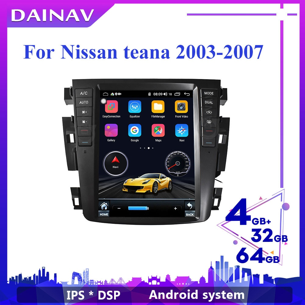 HD screen Car Multimedia DVD Player for-Nissan teana 2003 2004 2005 2006 2007 Telsa Style Car Stereo