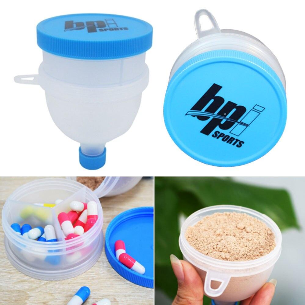 2 שכבות חלבון אבקת משפך מילוי נייד משפך כושר שותף עבור מים בקבוק חלבון שאכר בקבוק BPA חינם
