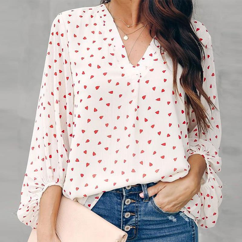 Весна 2021, новинка, рубашка, Топ с длинным рукавом, Женский Топ в горошек с длинным рукавом, блузка с длинным рукавом