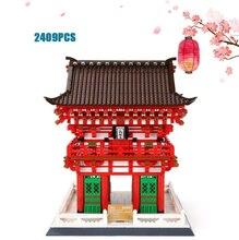 Japan Kiyomizu Temple Benevolent King gate building block world famous Cultural architecture MODEL bricks toys collection
