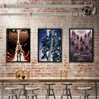 anime attack on titan posters japanese prints canvas clear image room bar poster home art painting decoration wall stickers