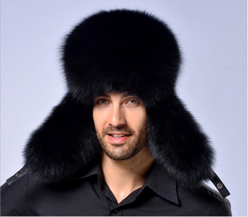 Ushanka-casquette de Ski en cuir russe   2020, casquette de Ski en fourrure pour hommes et femmes, chapeau thermique unisexe chaud pour hiver
