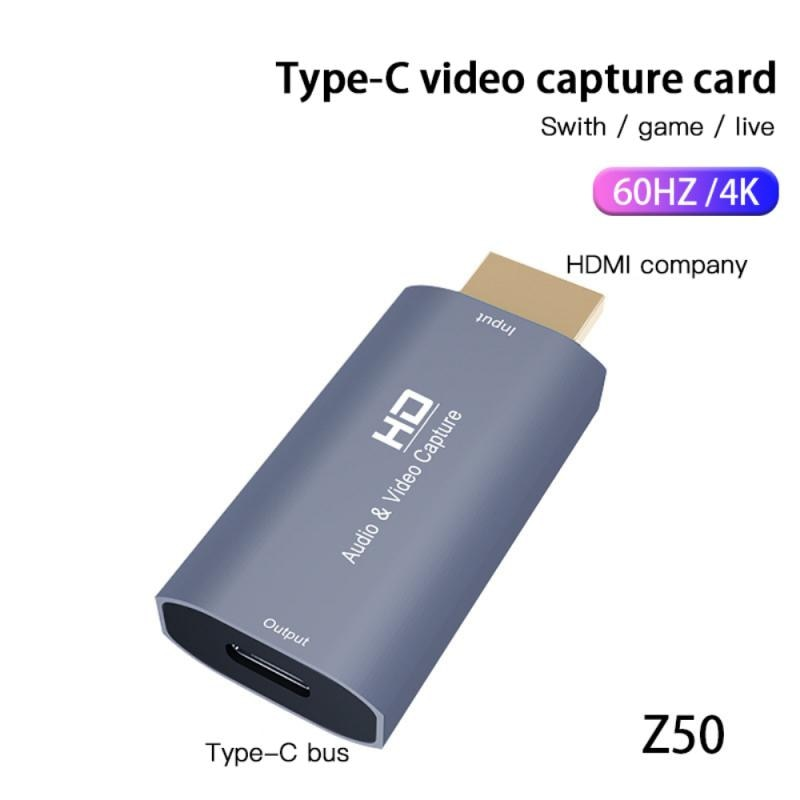 best hd 1080p hd 3g sdi hdmi vga ypbpr dvi capture dongle live streaming video audio capture card game video grabber Swith/ Game/Live 4K Mini Video Capture Card HD 1080P Acquisition Card Audio HD/M TO Type C/F Audio Video Capture Card