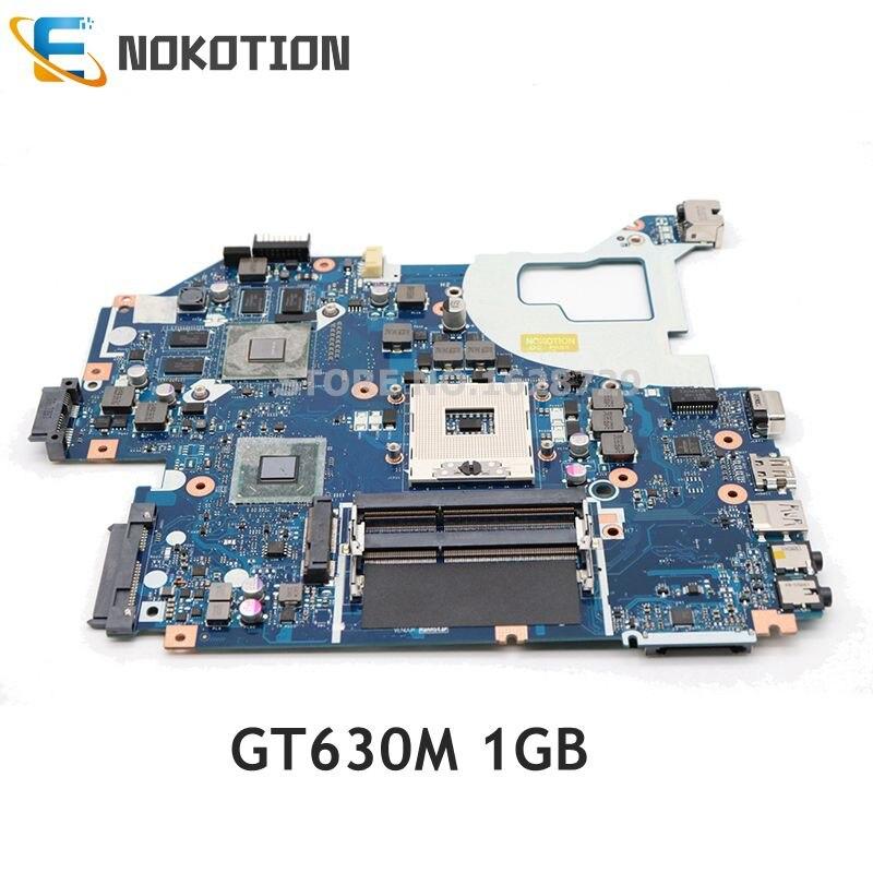 NOKOTION ordenador portátil placa madre para Acer aspire V3-571G E1-571G NBY1X11001 NB Y1X11.001 LA-7912P Tablero Principal DDR3 GT630M 1GB