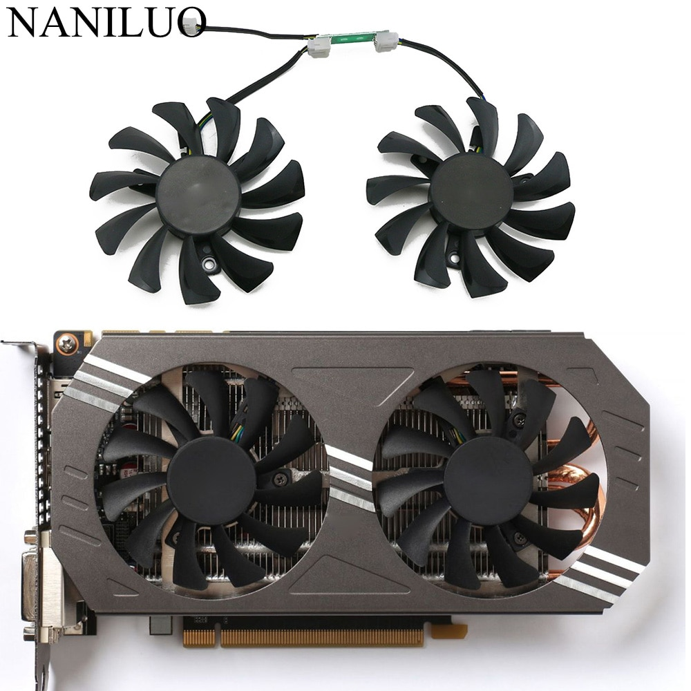 free shipping t128010sm 75mm dc12v 0 20a 40 40 40mm for gigabyte graphics card cooler cooling fan GA81S2U 75MM GTX970 Cooler Fan Replacement For ZOTAC GeForce GTX 970 Graphics Card Cooling Fan