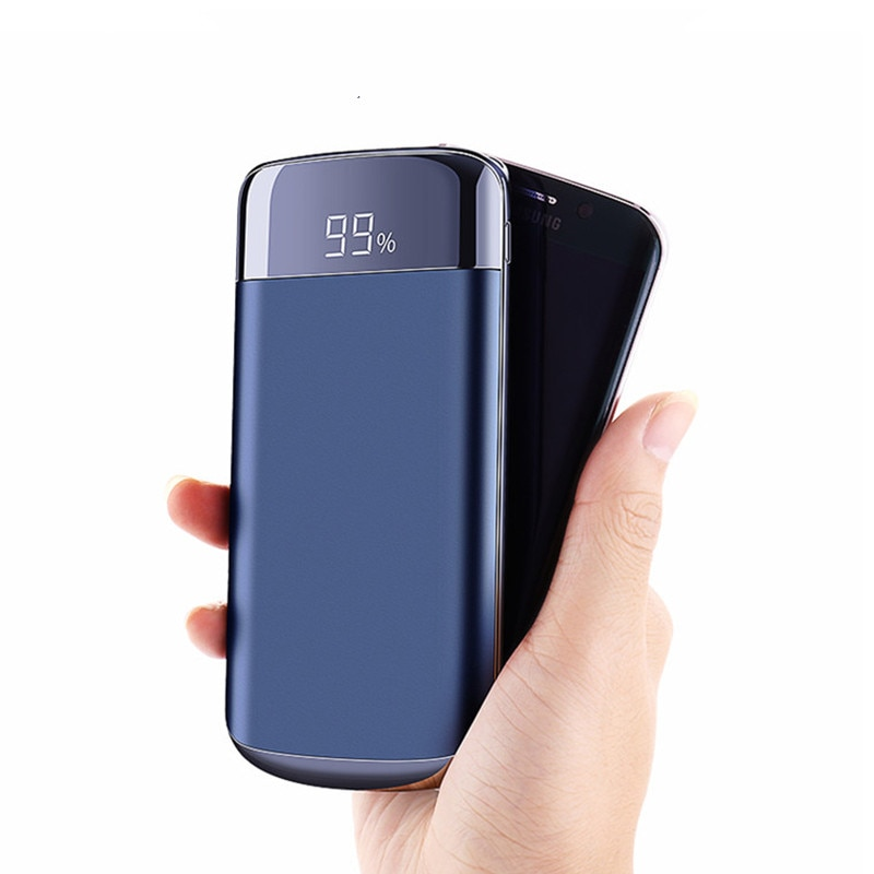 For Xiaomi MI iphone X Note 8 10000mah Power Bank External Battery PoverBank 2 USB LED Powerbank Portable Mobile phone Cha