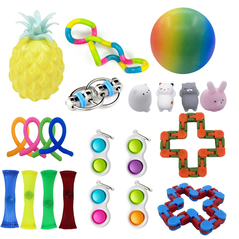 Fidget Sensory Toy Set Stress Antistress Relief Toys Autism Anxiety Relief Stress Bubble Pack Sensory Toy For Kids Adults Toys enlarge