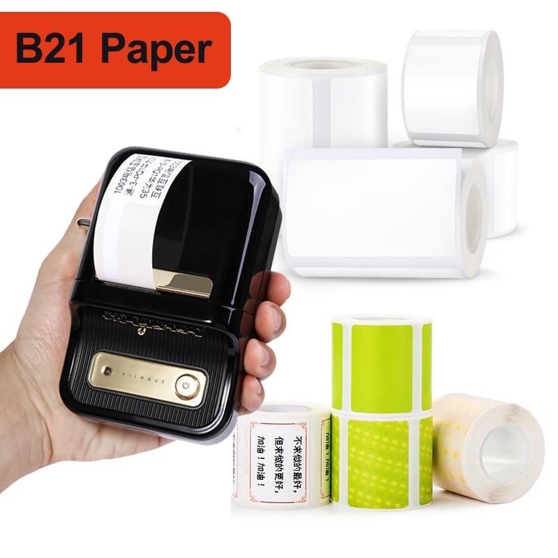Лист для принтера этикеток NIINBOT B21, водонепроницаемые этикетки, легко наклеивается, модная карманная Акварельная бумага из хлопка, оптом