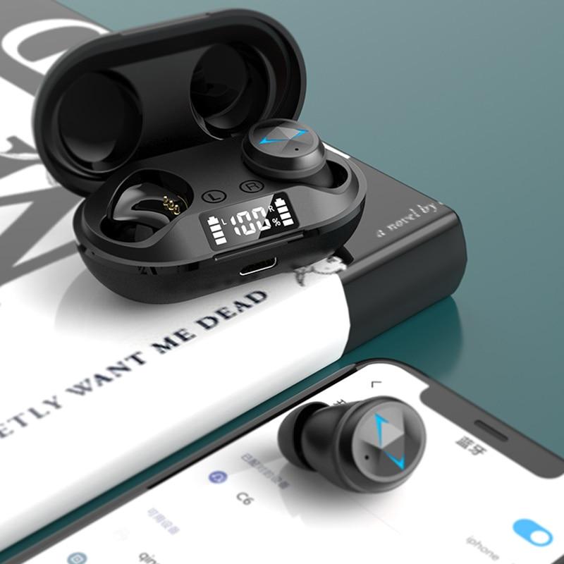 TWS Wireless Bluetooth 5.0 Earphones 9D hifi stereo Earbuds Earphones Waterproof Noise Cancelling bass Headset With Microphone