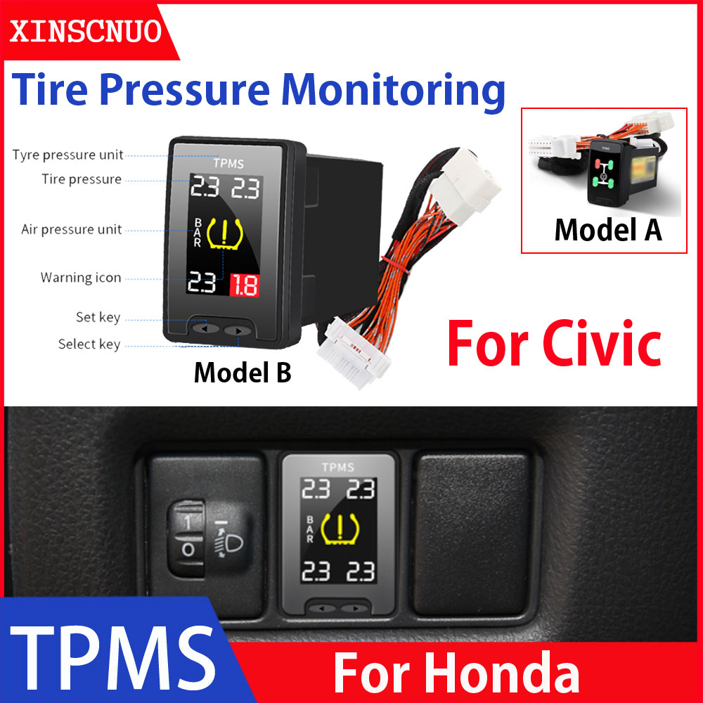 Car Electronics OBD TPMS For Honda Civic 2012-2018 2019 Tyre Pressure Monitor System Digital Pressur
