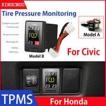Car Electronics OBD TPMS For Honda Civic 2012-2018 2019 Tyre Pressure Monitor System Digital Pressur