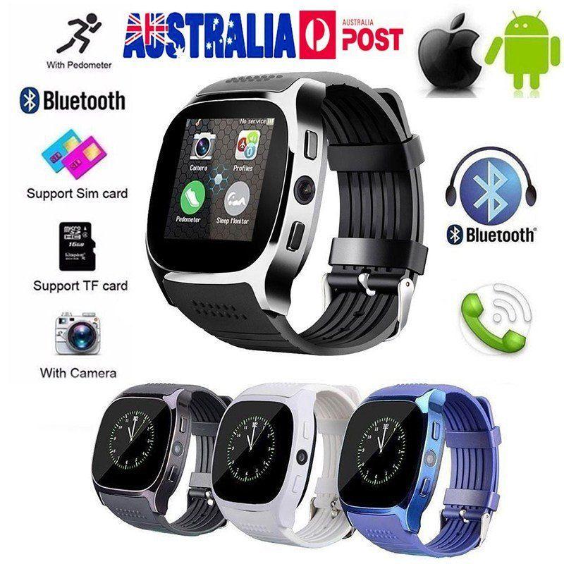 Bluetooth Смарт-часы T8, Телефон Mate, SIM-карта, шагомер, водонепроницаемость для Android iOS