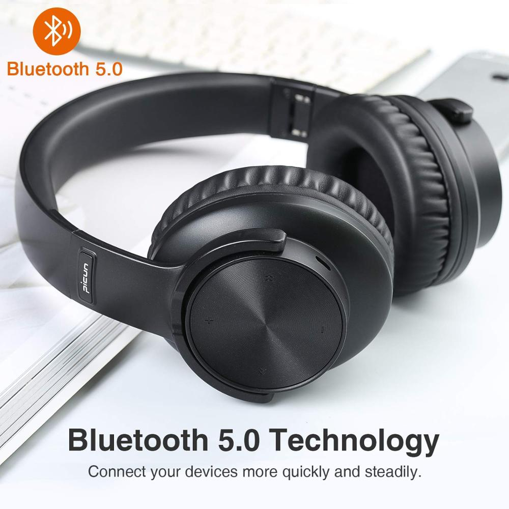 B8 Bluetooth 5.0 Headphones 40H Play time Touch Control Wireless Headphone with Mic Over Ear Earphone TF Headset for phone PC enlarge