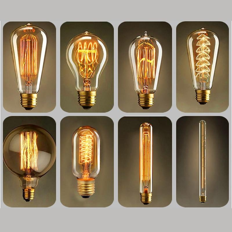 Диммируемый Ретро светильник Эдисона E27 40 Вт 110 В 220 В ампула Ретро лампа накаливания винтажный декоративный светильник