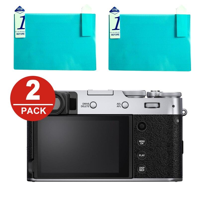 2x LCD Screen Protector Protection Film for Fuji Fujifilm X100V X-T4 XT4 Digital Camera