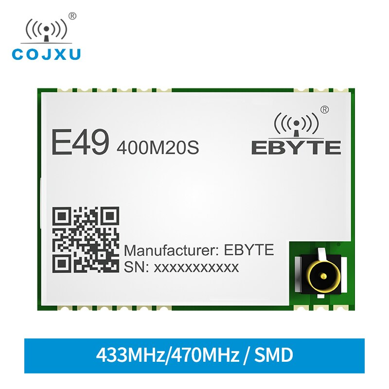 e49 400m20s 433mhz 20dbm cmt2300a chip wireless modules cost effective wireless data transmission spi module long range ebyte E49-400M20S CMT2300A 410-510MHz 20dBm 2500m Range Low Power Consumption 433MHz ISM Band SPI RF Module