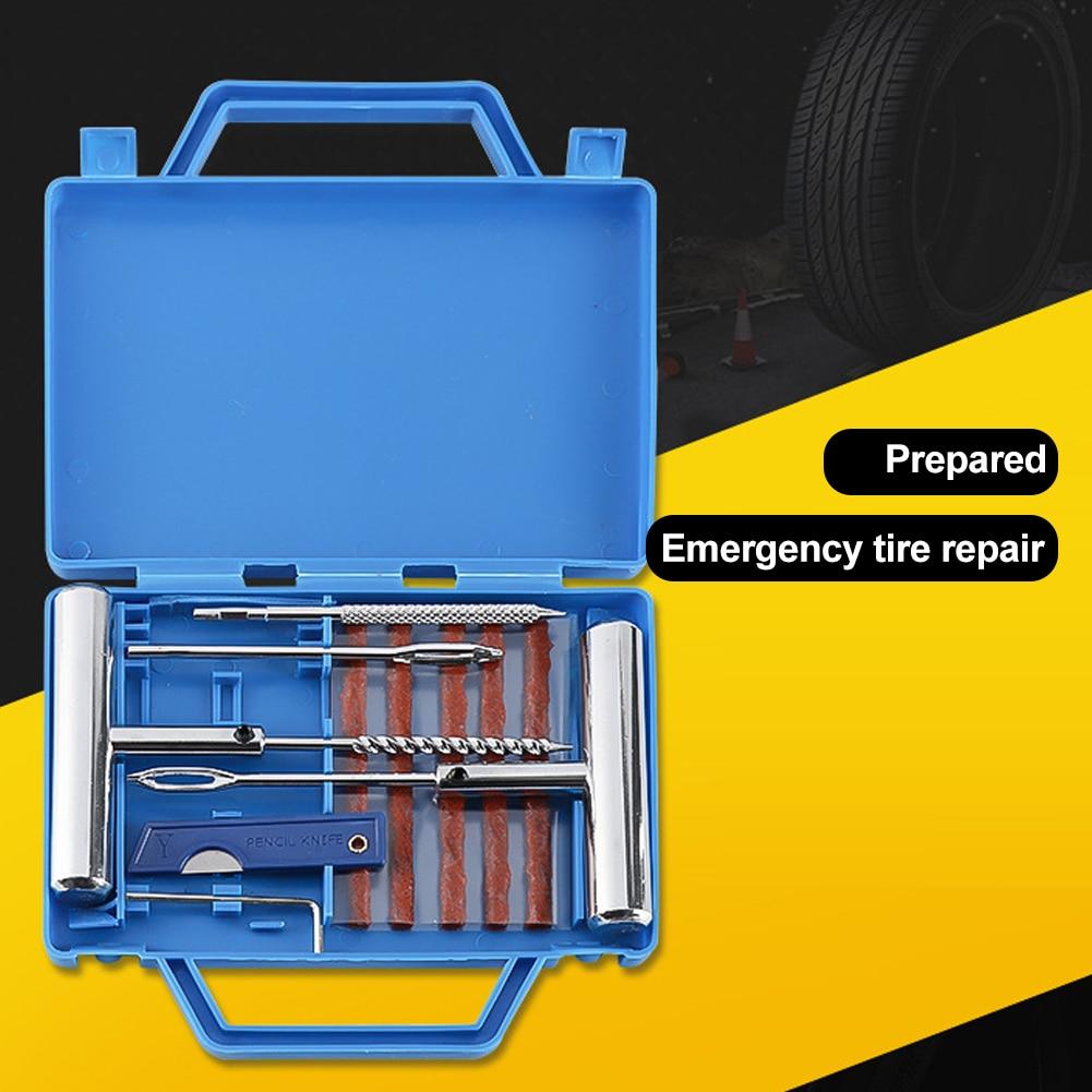 Набор для ремонта шин, комплект из 11 предметов для экстренных случаев, бескамерных покрышек, фургонов, мотоциклов, велосипедов