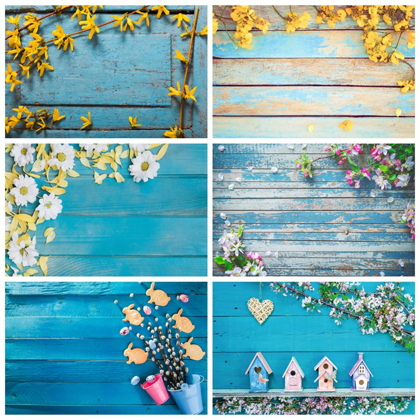 yeele wedding decor blossom flowers wall photophone baby portrait photographic background photography backdrops for photo studio Yeele Wooden Board Planks Grunge Flowers Old Portrait Photography Backgrounds Customized Photographic Backdrops for Photo Studio