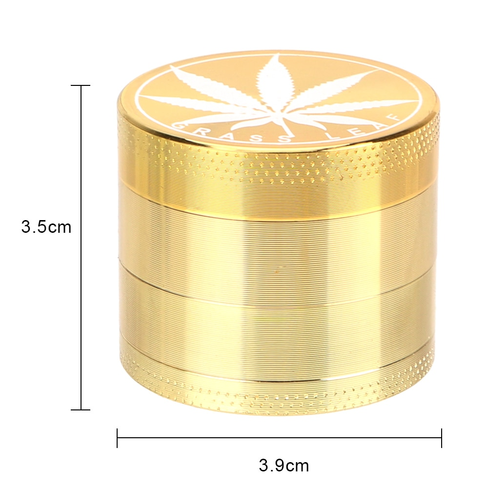 4-layer Tobacco Grinder Spice Weed Cutter Smoking Herb Cutter Transparent Aluminum Alloy Latest Lightning-Shaped enlarge