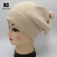 new style girl women winter hat angora100 double warm hat skulies beanies popular colors for girl