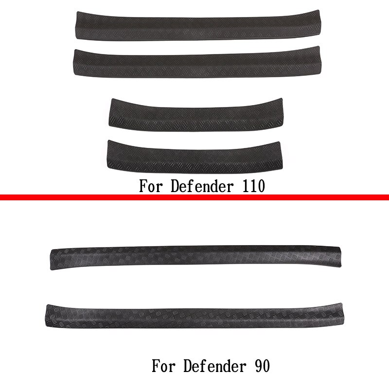 For 2020-2022 Land Rover Defender 90 110 ABS car outer threshold trim strip car decoration accessories enlarge