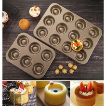 6 Holes Non stick Cake Mold Non Stick Cupcake Muffin Biscuit Pan Carbon Steel Baking Supplies DIY Bakeware