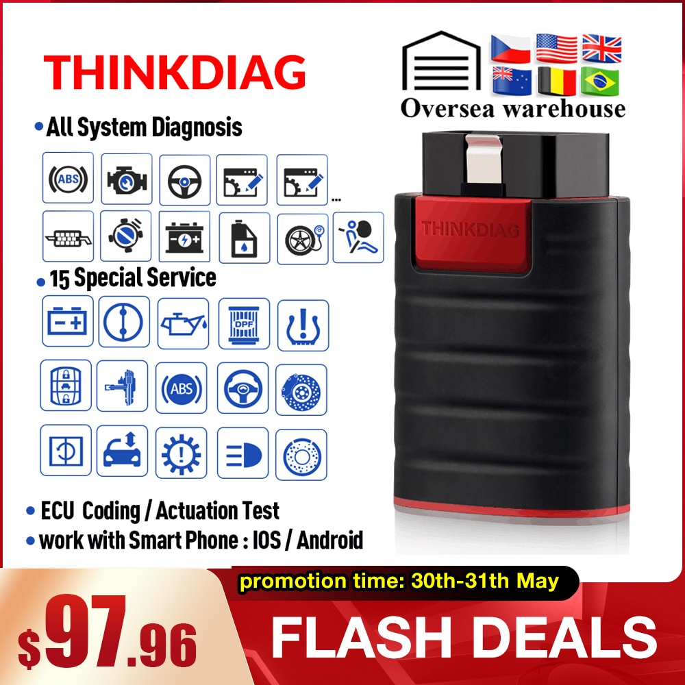 ThinkCar ThinkDiag obd2 obdii считыватель кодов все системы диагностический инструмент 15 сброс Think Diag Сканер pk X431 easydiag 3,0 ap200 golo