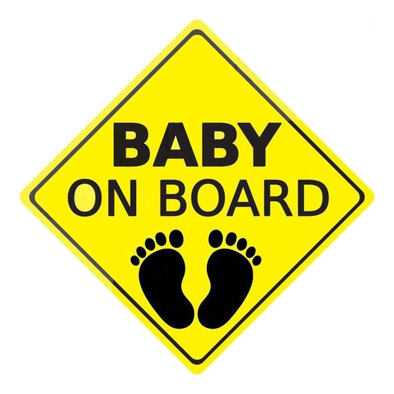 Детские предупреждающие знаки на борту, модные автомобильные наклейки и наклейки, бампер, окно, чехол для ноутбука, царапины, наклейки, аксе...