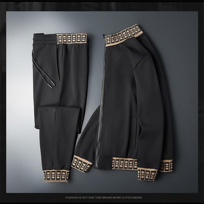 Autumn and winter men's high-end high-quality business suit + men's casual suit men's sportswear M-7XL
