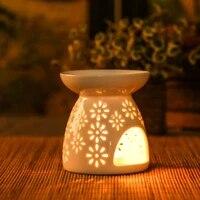 Porte-bougie en ceramique  bruleur dencens a huile essentielle  aromatherapie  lampes en porcelaine  decoration de salon de maison