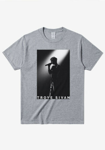 Troye Sivan BLOOM gira mundial logotipo Unisex hombre mujer camiseta personalizada