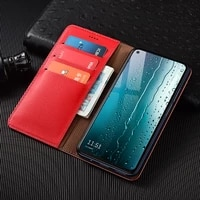 litchi pattern genuine leather wallet case for huawei honor 6a 6c 6x 7a 7x 7c 7s 8a 8c 8s 9a 9c 9s 8x magnetic flip cover cases