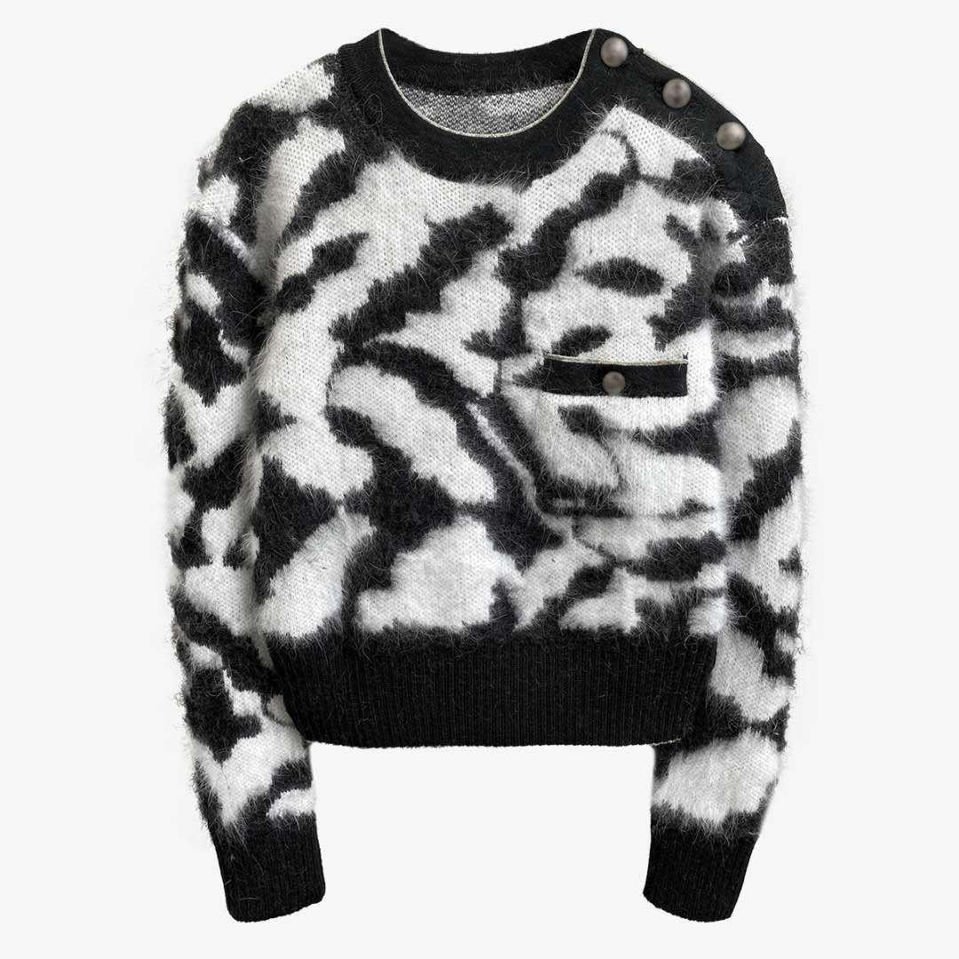 Новый стиль, свободный и ленивый плюшевый свитер на осень и зиму