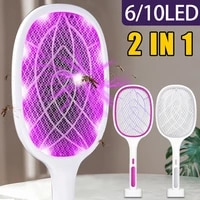 3000v electric flies swatter killer fly zapper racket with uv lamp rechargeable mosquito trap racket anti insect bug zapper