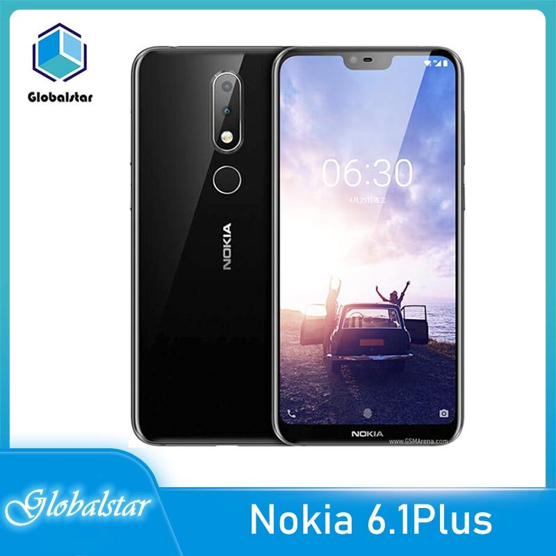 Перейти на Алиэкспресс и купить Nokia X6 Nokia 6,1 плюс отремонтированный оригинальный Nokia 6,1, Wi-Fi, FM радио Bluetooth 4G мобильный телефон один год гарантии Бесплатная доставка