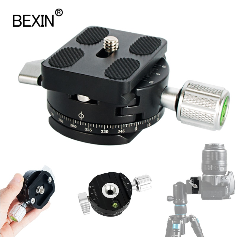 Camera Rotate Panorama Mounting Bracket Clamp Tripod Ball Head Adapter Quick Release Clamp For Arca Swiss Camera Tripod Monopod bexin camera clamp tripod clamp quick release clamp ball head rrs compatible adapter mount holder bracket for arca dslr camera