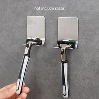steel razor bracket for mens shaver holder shelf bathroom razor holder wall adhesive storage hook kitchen hanger rack