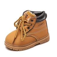 2021 brand new boys martin boots winter warm velvet lining shoes children outdoor shoes toddler shoes non slip boy leather boots