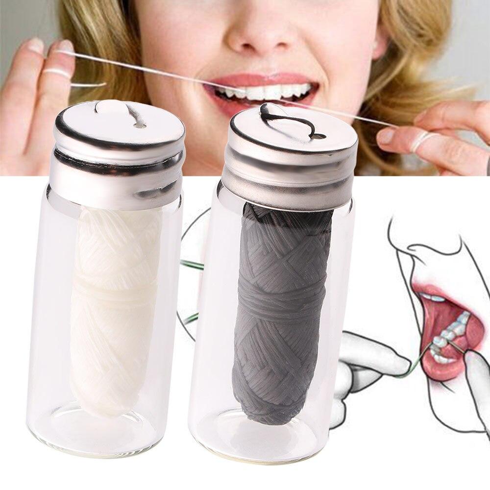 Hilo Dental de bambú respetuoso con el medio ambiente, higiene Dental, cera de limpieza para dientes, hilo Dental con sabor a menta 30m