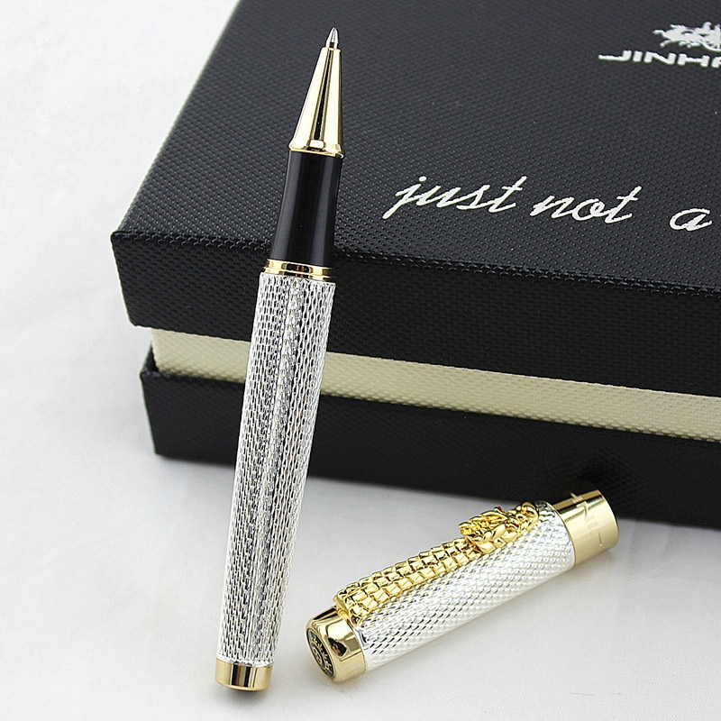 JINHAO 1200 Metal Roller Ball Pen Business Executive Ballpoint Pens for Writing Stationery Office School Supplies stainless steel metal ballpoint pen office school supplies stylus pens writing supplies roller ball point pens nice gift