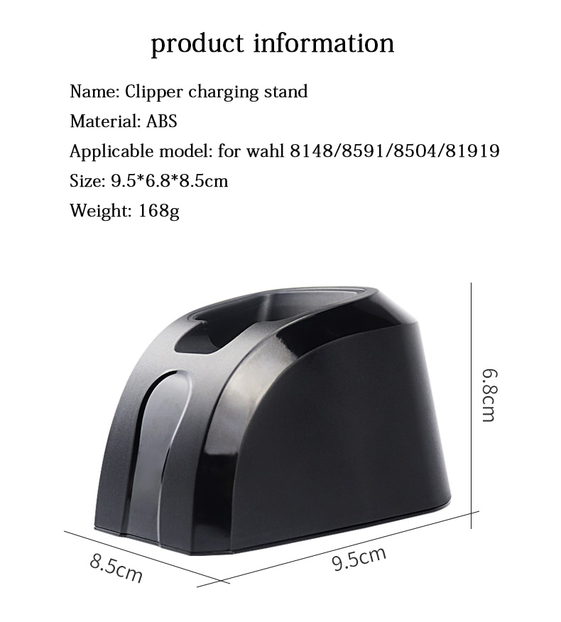 Hair clipper stereo charger fast charger clipper charging stand, suitable for wahl 8148/8591/8504/81919 haircut tools enlarge