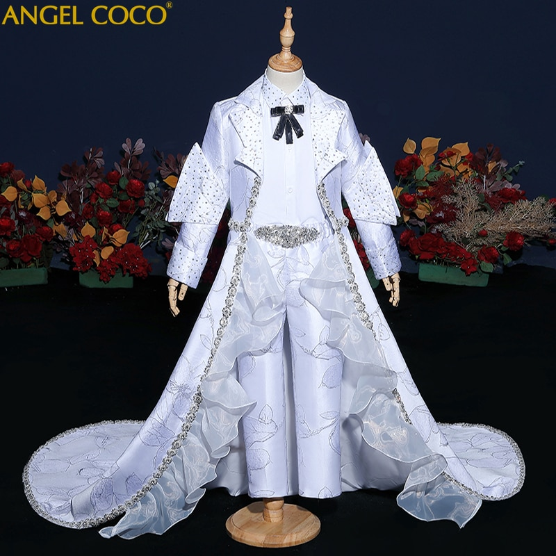 Luxury White Silver Gold Boys Clothes Sets Pageant Dresses For Children Boy's Evening Dress Teen Clothing Celebrity Abendkleider