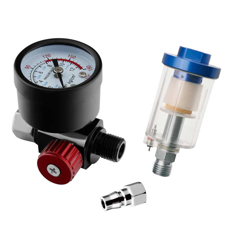 "1/4 ""Thread Air Regulator Gauge For Spray Paint Gun Air Oil Water Separator Filter Kit Airbrush Regulator Filter Paint Accessory"