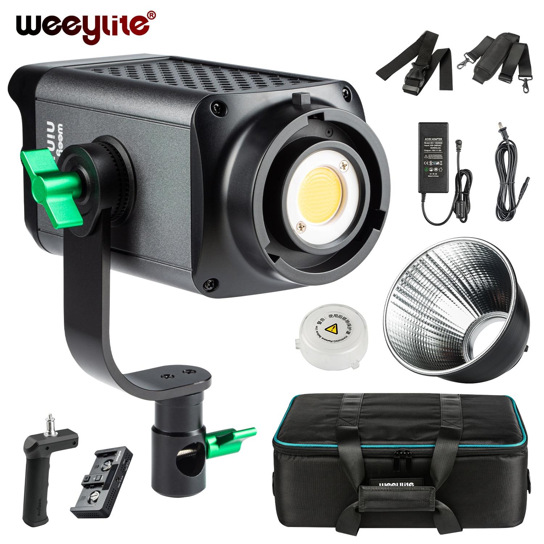 Weeylite LED الفيديو الضوئي 80 واط CCT المستمر فريسنل الخفيفة ، بونز جبل Monolight COB استوديو الفيديو الضوئي ing التطبيق/لاسلكي عن بعد
