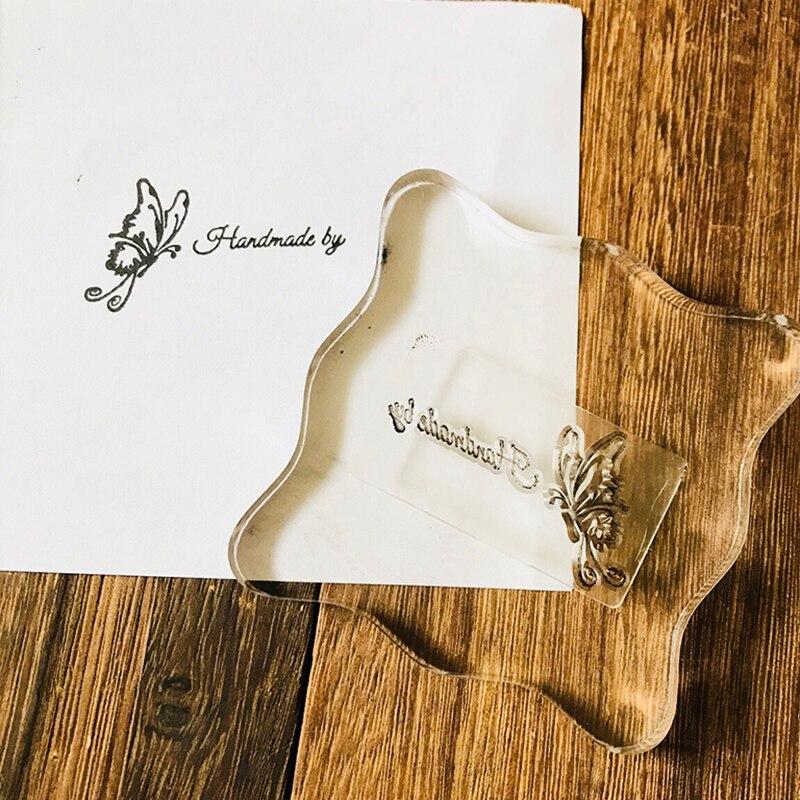 Sellos transparentes de mariposa sellos de palabras 2020 sello de silicona transparente para DIY Tarjeta de papel artesanal para álbum de recortes proveedor