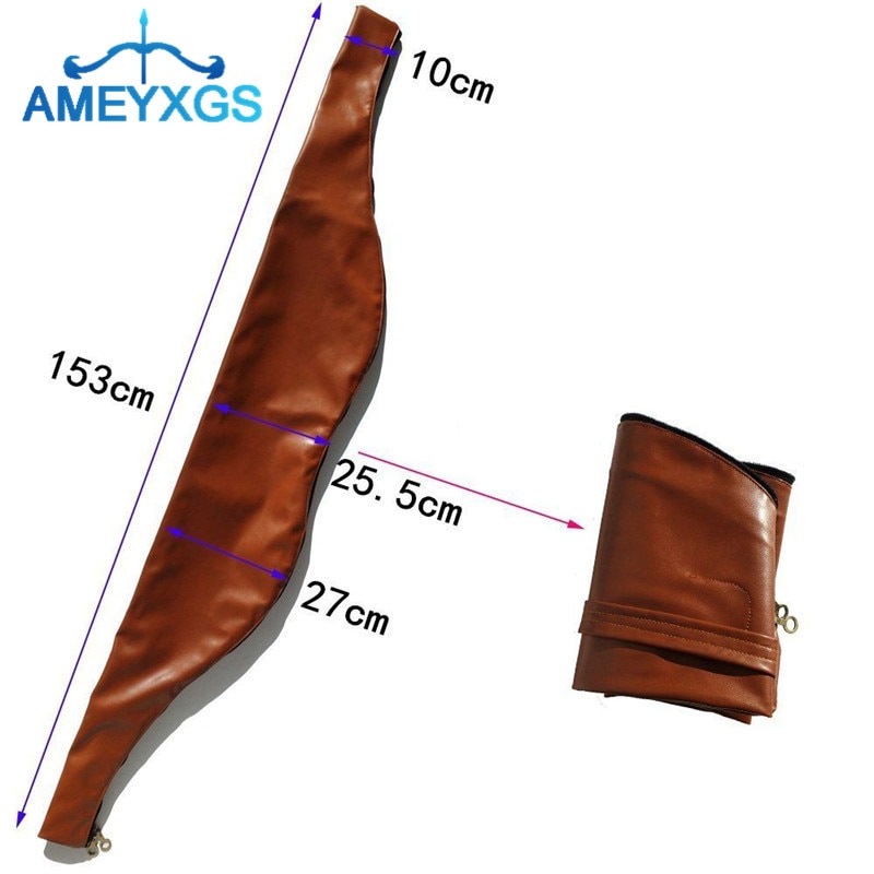 1 Pza arco bolsa Funda de cuero suave impermeable cuero recurvo tradicional Longbow bolsas para caza accesorios de tiro