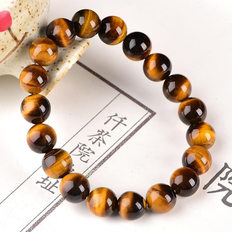 Купить с кэшбэком Minimalist 4mm 6mm 8mm 10mm Tiger eyes Beads Bracelet Men Charm Natural Stone Braslet For Man Handmade Casual Jewelry Pulseras